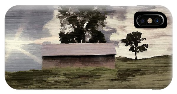 Barn II A Digital Painting IPhone Case