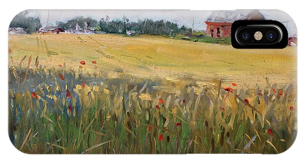 Grain iPhone Case - Barn In A Field Of Grain by Ylli Haruni