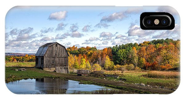 Barn In Autumn IPhone Case