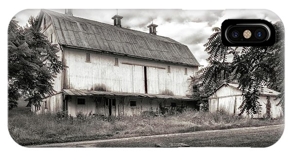 Barn iPhone Case - Barn In Black And White by Tom Mc Nemar