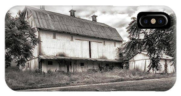Barn In Black And White IPhone Case