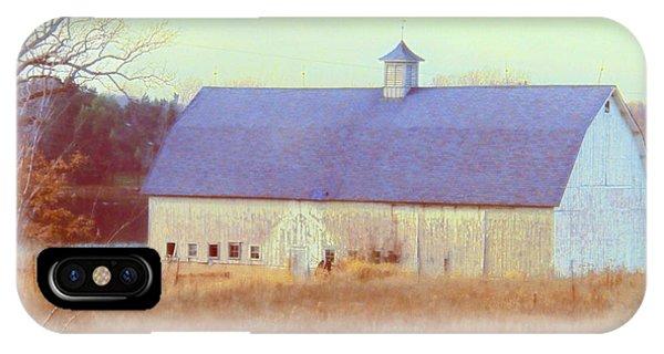Barn In Blue IPhone Case