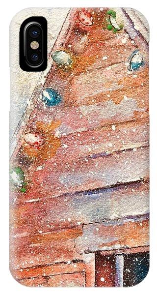 Barn In Snow IPhone Case