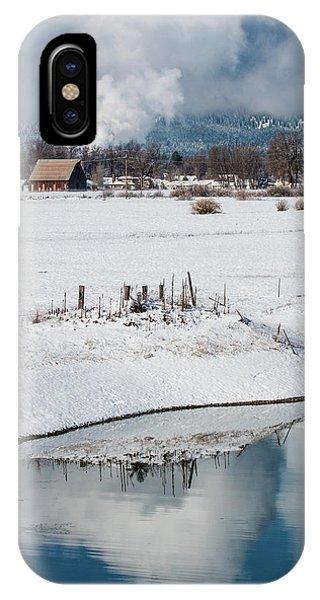 Barn In Winter IPhone Case