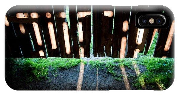 Barn Interior Shadows IPhone Case