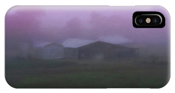 Barn On A Misty Morning IPhone Case