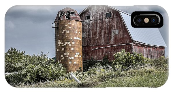 Barn On Hill IPhone Case