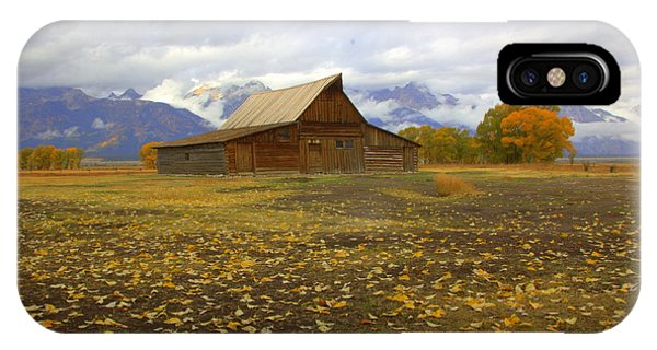 Barn On Mormon Row Wyoming IPhone Case