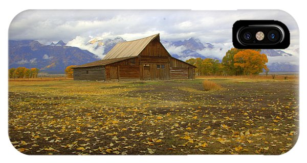 Barn On Mormon Row Utah IPhone Case