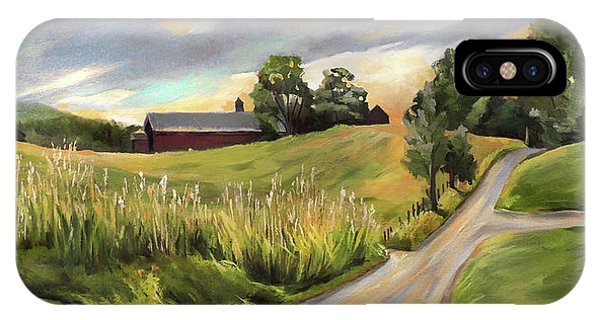 Barn On The Ridge In West Newbury Vermont IPhone Case