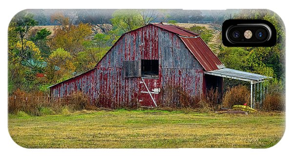 Barn On White Oak Road IPhone Case
