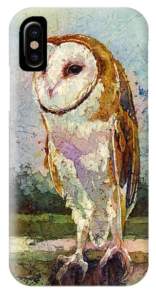 Bird Watercolor iPhone Case - Barn Owl by Hailey E Herrera