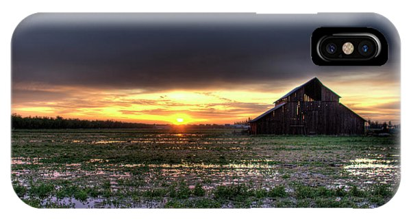 Barn Sunrise IPhone Case