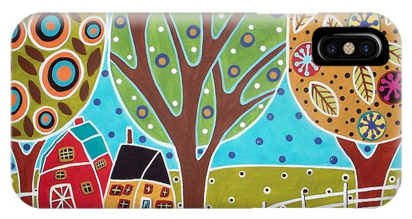Barn Trees And Garden IPhone Case