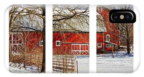 Barn Triptych IPhone Case