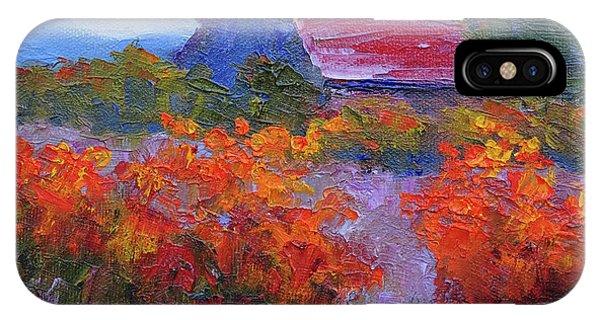 Barn Vineyard Autumn IPhone Case