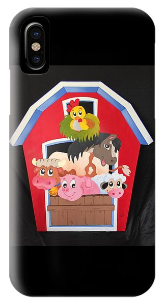 Barn With Animals IPhone Case