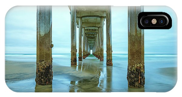 Scripps Pier iPhone Case - Barnacles by Joseph S Giacalone