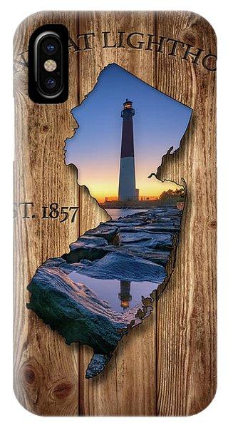 Navigation iPhone Case - Barnegat Light New Jersey Map by Rick Berk