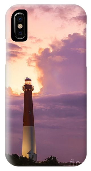 Lighthouse Wall Decor iPhone Case - Barnegat Lighthouse Nj Travel Guide 2016 Crop by Michael Ver Sprill