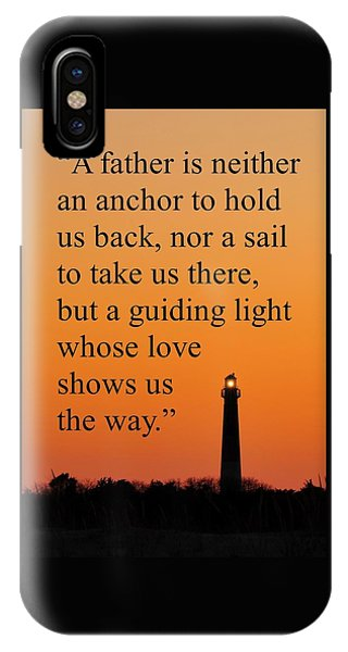 Barnegat Lighthouse With Father Quote IPhone Case