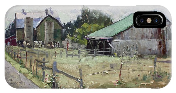 Old Barn iPhone Case - Barns And Old Shack In Norval by Ylli Haruni