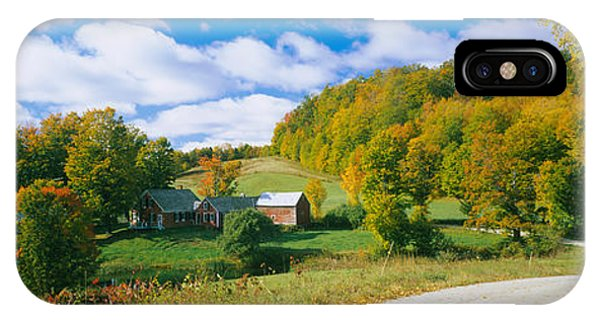 New England Barn iPhone Case - Barns Near A Road, Jenny Farm, Vermont by Panoramic Images