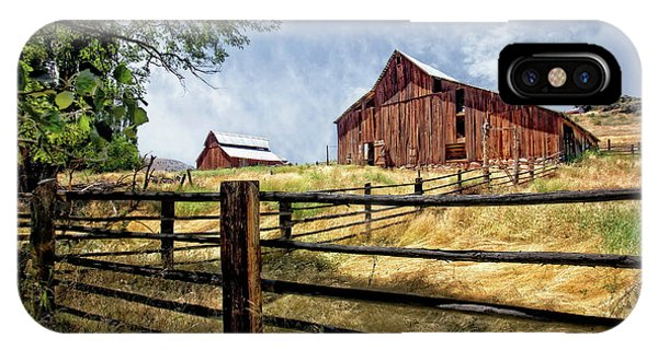 Wheeler Farm iPhone Case - Barns Near Fossil Oregon by Bill Leach