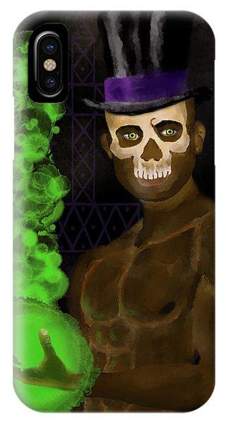 Voodoo iPhone Case - Baron Samedi by William Depaula