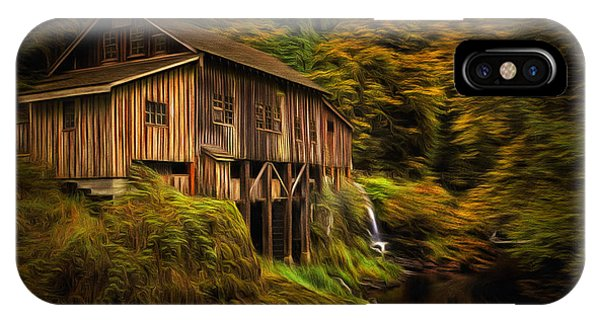 Fall Colors iPhone Case - Baroque Cedar Grist Mill by Mark Kiver
