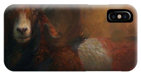 Baroque Mouflon Portrait IPhone Case