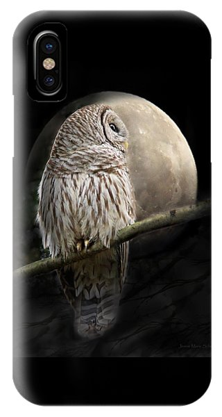Barred Owl Moon Glow IPhone Case