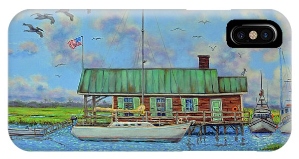 Barriar Island Boathouse IPhone Case