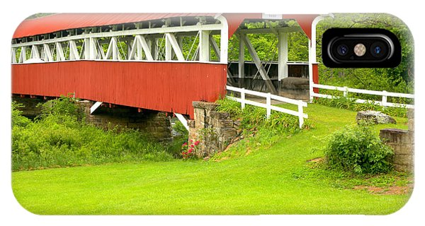 Somerset County iPhone Case - Barron's Covered Bridge by Adam Jewell