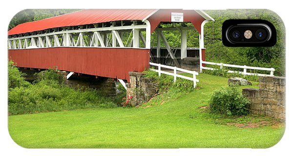 Somerset County iPhone Case - Barronvale Covered Bridge by Adam Jewell