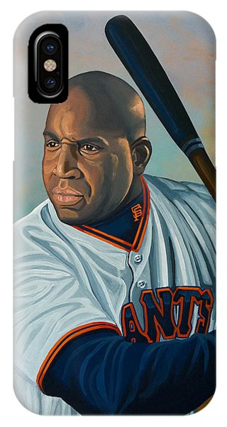 Baseball Bats iPhone Case - Barry Bonds by Paul Meijering