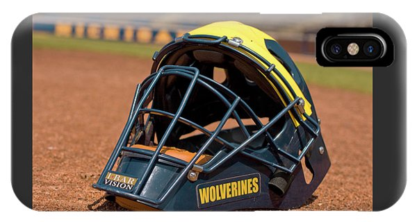 Baseball Catcher Helmet IPhone Case