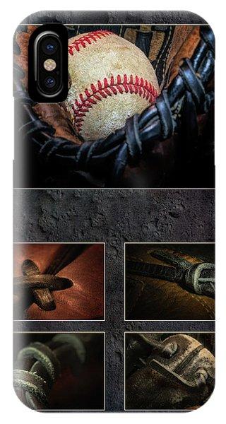 Baseball Gloves iPhone Case - Baseball Collage I by Tom Mc Nemar