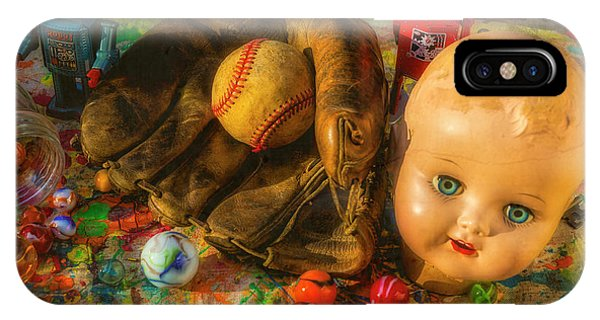 Eye Ball iPhone Case - Baseball Glove And Dolls Head by Garry Gay