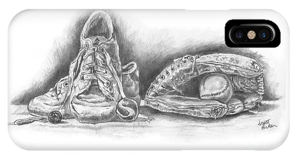Baseball Gloves And Shoes IPhone Case