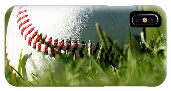 Sports iPhone Case - Baseball In Grass by Chris Brannen