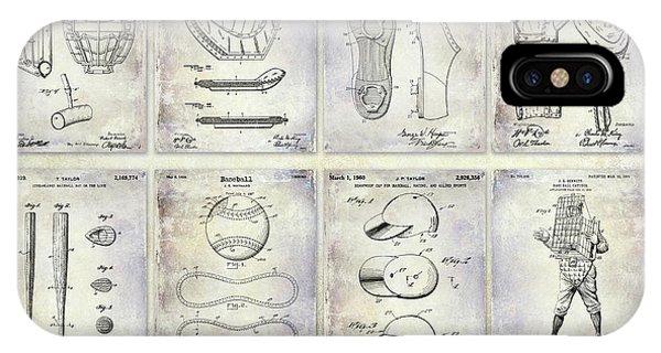 Baseball Patent History IPhone Case