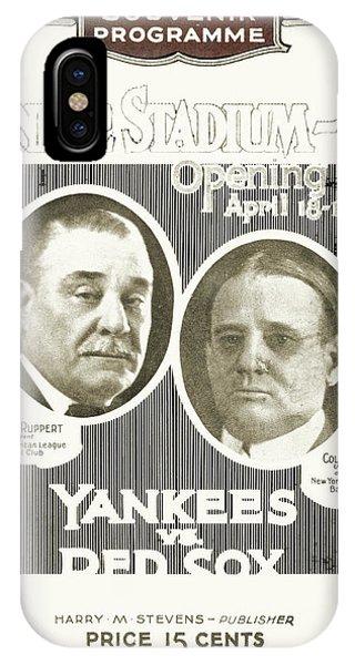 Boston Red Sox iPhone Case - Baseball Program, 1923 by Granger