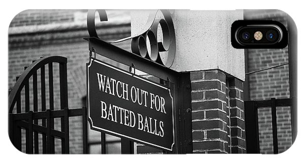 Baseball Warning Bw IPhone Case