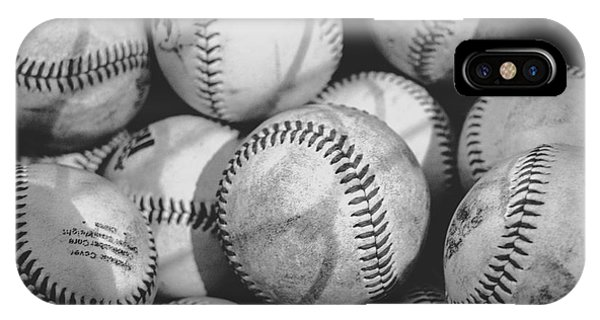 Baseballs In Black And White IPhone Case