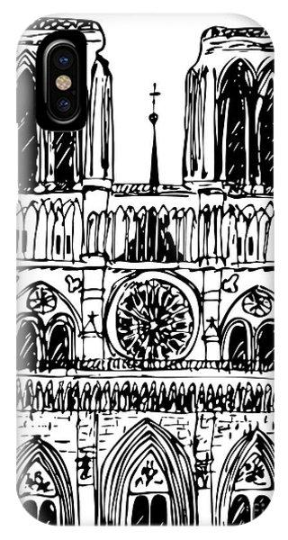 basilica Notre Dame IPhone Case