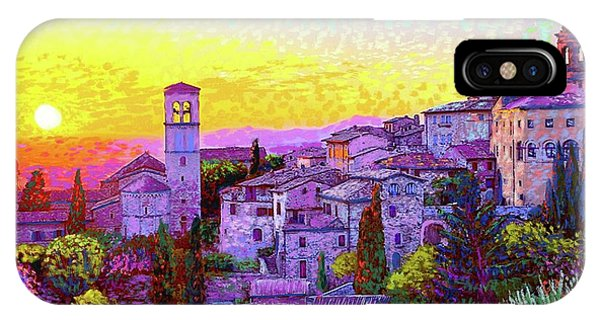 Violet iPhone Case - Basilica Of St. Francis Of Assisi by Jane Small