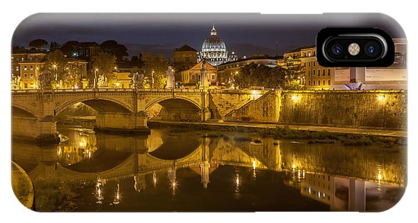 Basilica Over The River Tiber IPhone Case