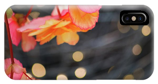 IPhone Case featuring the photograph Basket Begonia by Lora Lee Chapman