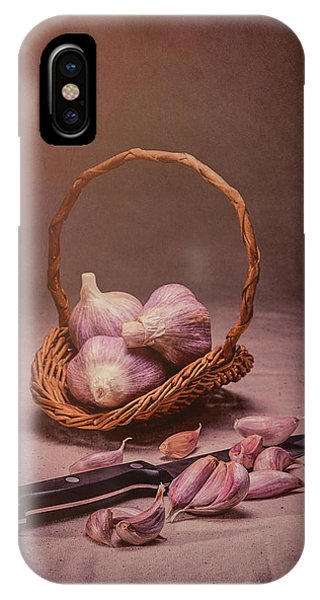 Season iPhone Case - Basket Of Garlic Still Life by Tom Mc Nemar